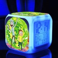 Rick and Morty Digital Glow in the Dark Alarm Clock