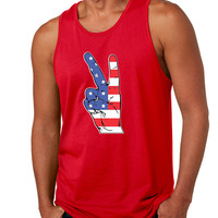 Men's Tank Top American Flag Hand 4th Of July Party Top