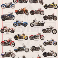 Harley-Davidson Legendary Motorcycles Poster 24x36