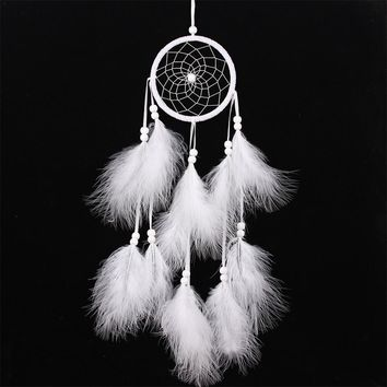Wind Chimes Handmade Indian Dream Catcher Net With Feathers 55 cm Wall Hanging Dreamcatcher Craft Gift Home Decoration