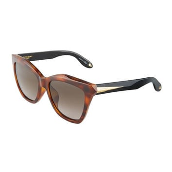 Givenchy Square Havana Acetate Sunglasses