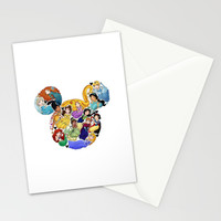 Princess Mickey Ears Stationery Cards by Katie Simpson