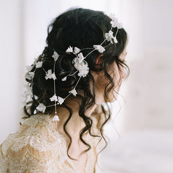 Wedding flower crown garland, lily of the valley hair pins no. 2079