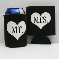 Black Mr. and Mrs. Koozies