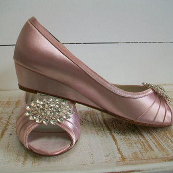 Wedge Wedding Shoes For Bride. Custom Color Wedding Shoes Wedge ...