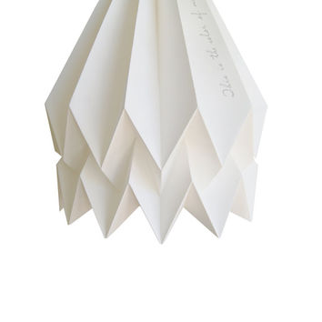 Origami Lamp | POET COLLECTION | Teacher' Handwriting |  Handmade Lampshade | FREE Shipping