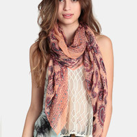 Maharaja Paisley Print Scarf - $14.00 : ThreadSence, Women's Indie & Bohemian Clothing, Dresses, & Accessories