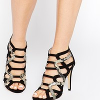 Lipsy Cassie Gladiator Snake EffectHeeled Sandals