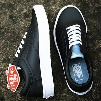VANS Classic Leather Old Skool Flats Shoes Sneakers Sport Shoes