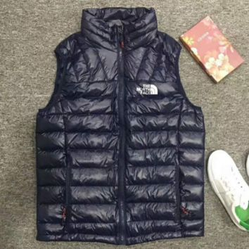 THE NORTH FACE Casual  Men Sleeveless Jacket Winter Ultralight White Duck Down Vest Male Slim Vest Mens Windproof Warm Down Jackets B-G-JGYF