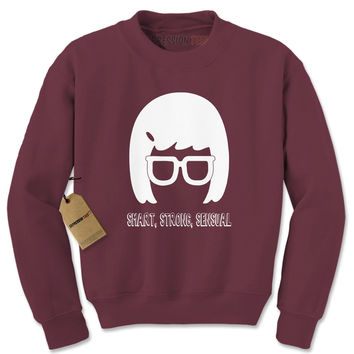 Smart, Strong, Sensual Adult Crewneck Sweatshirt