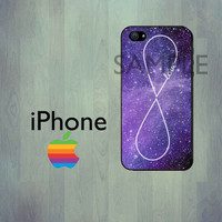 SPACE GALAXY iPhone Case - LOVE Infinity iPhone 4 Case or iPhone 5 Case - iPhone Hard Cover Case