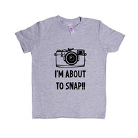 I'm About To Snap Photography Photographer Pun Puns Play On Words Pictures Photographs Film Digital SGAL9 Unisex Kid's Shirt