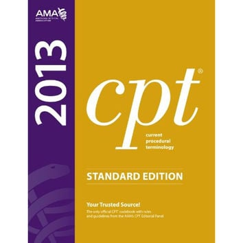 BHFO Standard Edition CPT 2013 American Medical Association Text Book