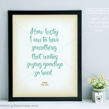 Printable- Winnie the pooh - disney quotes wall art for kids room