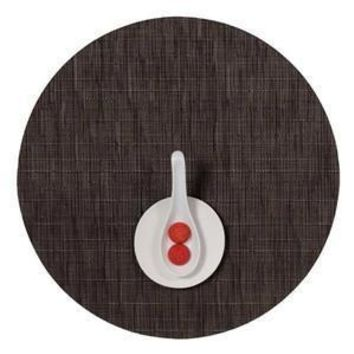 CHILEWICH Bamboo Round Placemat S/4   Chocolate