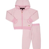 Peony-Wht Pixie Ho Baby 2Pc Yarn Dye Cashmere Tracksuit by Juicy Couture,