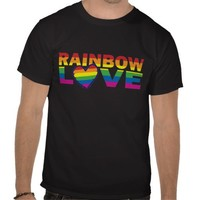 Gay Pride Rainbow Love Heart Tees from Zazzle.com