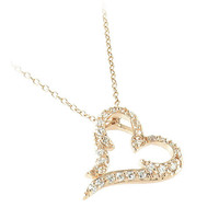 Heart Necklace in Rose Gold Plated Sterling Silver