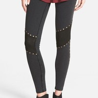Junior Women's Sun & Shadow Stud Leggings,