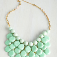 Statement At the Last Minute Necklace in Mint by ModCloth