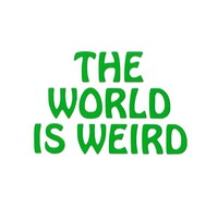 The World Is Weird Vinyl Decal