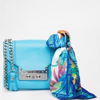 Love Moschino Leather Across Body Bag with Detachable Scarf