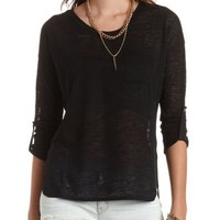 High-Low Knit Pocket Top by Charlotte Russe