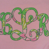 Lilly Pulitzer Monogrammed Long Sleeve Youth or Adult * free shipping *