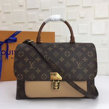 LV Louis Vuitton Women Fashion Leather Satchel Shoulder Bag Crossbody