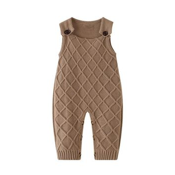 Autumn Baby Romper Newborn Baby Clothes Baby Girls Boys Sleeveless Jumpsuit Infant Knitted Rompers Photography Props