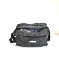 Overnight Bag Black Weekender Bag Carry On Bag Jordache Bag Black Shoulder Bag Tweed Overnight Bag Black Overnight Bag Soft Luggage