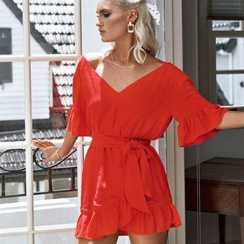 Cherry Frill Dress - Dresses by Sabo Luxe