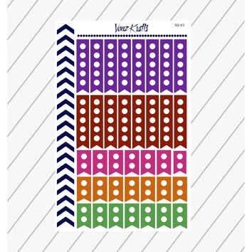 Checkbox Flag Planner Stickers, To Do List Stickers, Flag Checklist Stickers, Functional Planner Stickers, Perfect For Erin Condren Planner