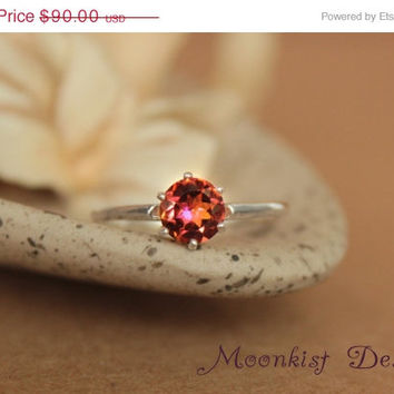ON SALE Anastasia Topaz Tiffany Style Solitaire in Sterling Silver - Engagement Ring, Promise Ring