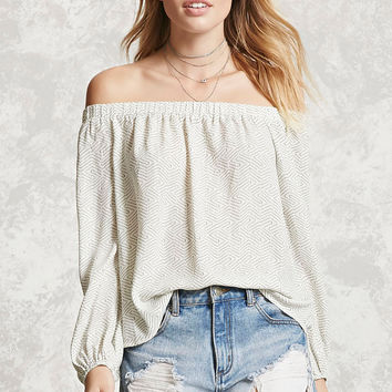Contemporary Dotted Print Top