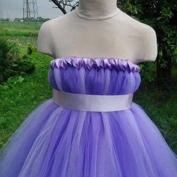 Wedding tutu dress – lavender tutu dress – baby tutu dress – empire waist tutu – birthday tutu dress