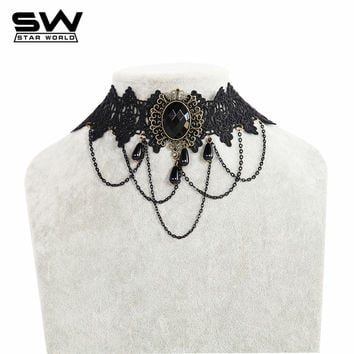 Starworld Trendy Lace Zinc Alloy Rope Chain For Women Fashion Brand