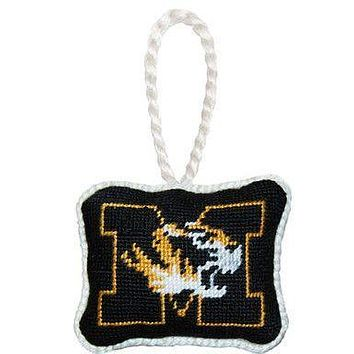 University of Missouri Needlepoint Christmas Ornament in Black by Smathers & Branson