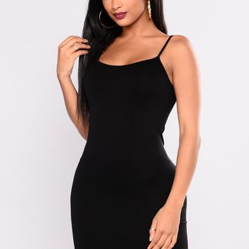 Love In The Dark Shapewear Dress - Black