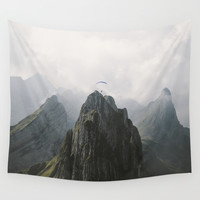 Flying Mountain Explorer - Landscape Photography Wall Tapestry by Michael Schauer