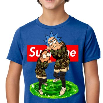 Ricks Supreme Rick and Morty Kids T-Shirt Tee