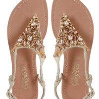 New Look Glitz Embellished Flat Sandals