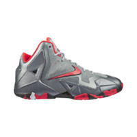 Nike LeBron 11  Kids' Basketball Shoe Size 7Y (Grey)
