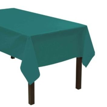 """Party Essentials VM54108 ValuMost Rectangular Plastic Tablecover, 108"""" Length x 54"""" Width, Teal (Case of 24)"""