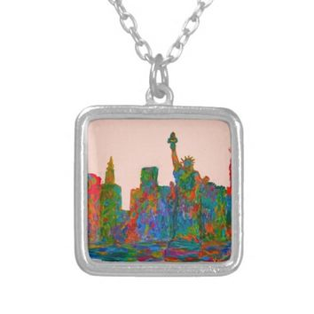 Manhattan Beauty Silver Plated Necklace