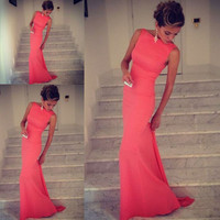 New Sexy Women Sleeveless Prom Ball Cocktail Party Dress Formal Evening Gown
