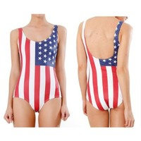 Sexy One Piece Bodysuit World Flags - American Flag Swimsuits Bathing Suits:Amazon:Sports & Outdoors