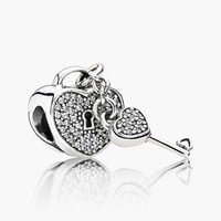 Women's PANDORA 'Lock of Love' Lock & Key Charm