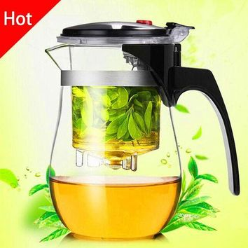 DCCKFS2 High quality  Heat Resistant Glass Teapot Chinese kung fu Tea Set Puer Kettle Coffee Glass Maker Convenient Office Tea Pot